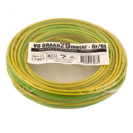 vd draad 2,5 geel/groen 20 meter