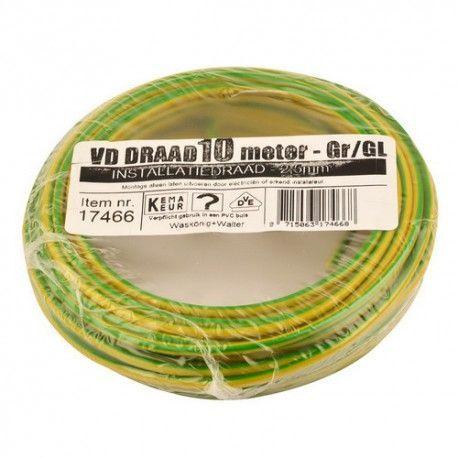 vd draad 2,5 geel/groen 10 meter