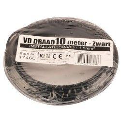 vd draad 1,5 zwart 10 meter